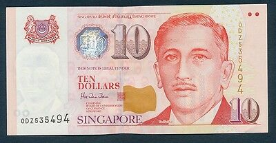 Singapore: 1999 $10 President Ishak Series. Pick 40, UNC Cat $24