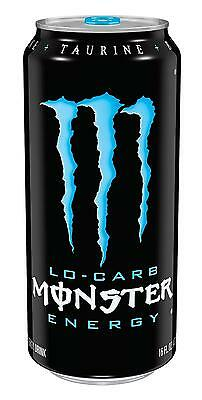 Monster Energy Drink Beverage Taurine Low Carb 16 OZ 24 Pack Free Shipping NEW!