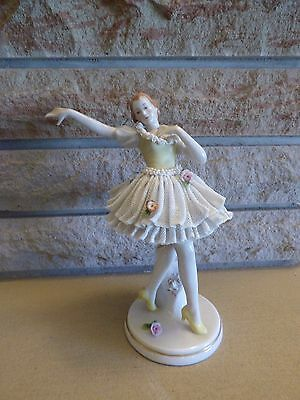 "Antique Kester Germany dancing lady figurine 7"" tall"