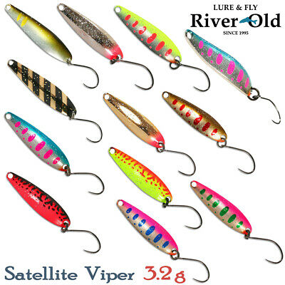 Assorted Colors RIVER OLD SATELLITE VIPER 3.2 g, 32 mm Trout Spoon