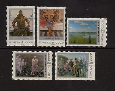 Russia 1987 Paintings Mint unhinged set 5 stamps