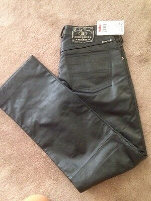 Lucky Brand Leather Pants Jeans Size 28 RegLength NWT Genuine Leather