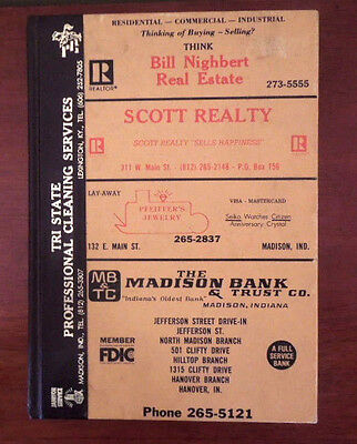 Vintage Bell Telephone Book ~ City of Madison, Indiana ~ Business & Residential