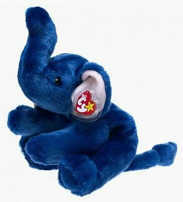 Ty Beanie Buddies Peanut Elephant Royal Blue Version 1998 Gosport Swing Tag