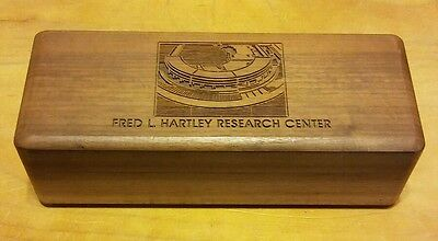 Fred L. Hartley Research Center Walnut Box, UNOCAL, Union 76 Oil, Lasercraft