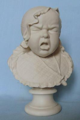 Rare Victorian Parian Bust Of A Baby