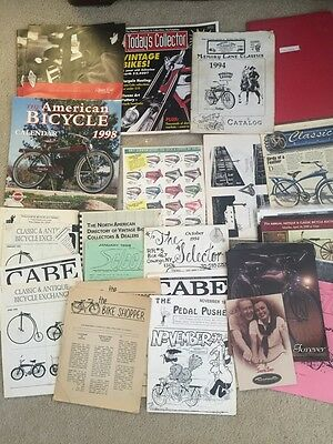 Vintage Bicycle Book Lot Schwinn Columbia Cabe Evolution of the Bicycle Higgens