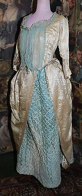 Beautiful Antique Fragile Silk Georgian Polonaise Costume For Restoration