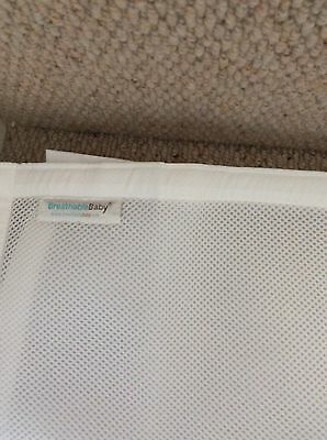 Breathable Baby 2 Sided Cot Mesh White