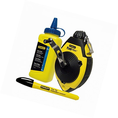 Stanley Fat Max Chalk Line Set 0-47-681 Home DIY Tool FAST FREE DELIVERY
