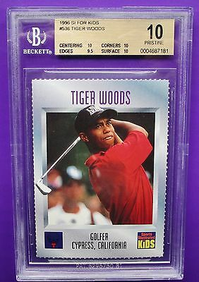 1996 Tiger Woods SI For Kids #536 First True Rookie RC Super High End BGS 10+