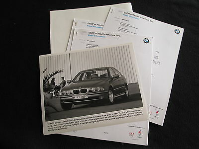 1997 BMW 528i 540i E39 5 Series Press Kit Media Info Brochure with photo & text