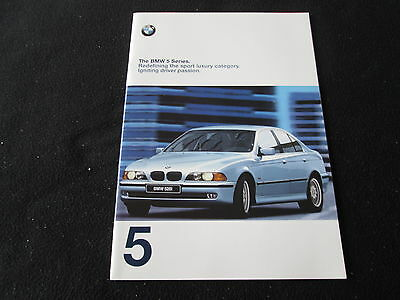 1998 BMW E39 5 Series Brochure 528i 540i Sedan Sport Premium Pack Sales Catalog