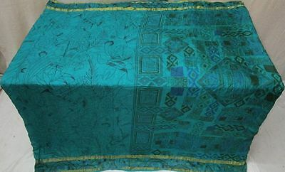 Pure silk Antique Vintage Sari Fabric DEAL WOMAN 4Y Ch16 6087 Bt Pck #AC7YF