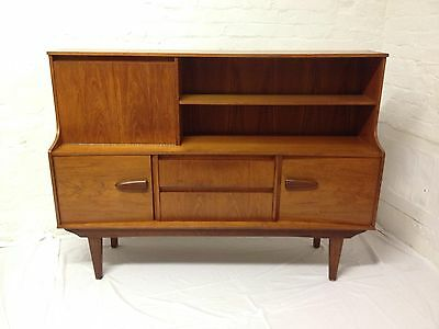 Original Mid-century Teak Highboard Sideboard Great Design