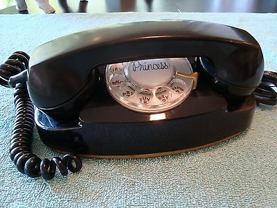 Western Electric BLACK Princess model 702 Telephone Old Phone