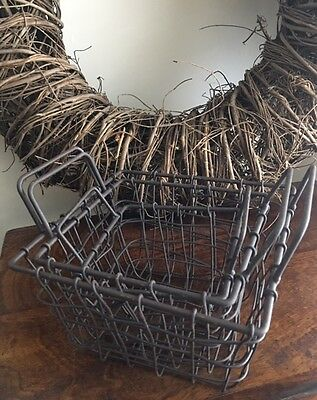 Wire Storage Baskets Industrial Style Square Grey Handles