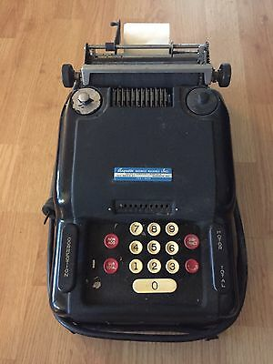 Vintage Antique Remington Rand Adding Machine With Cover