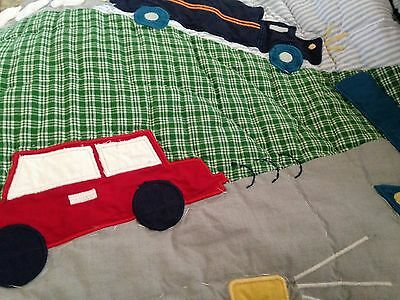 Pottery Barn Kids Baby BRODY Trucks Planes Cars Crib/Toddler Nursery Quilt