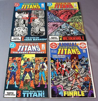 TALES OF THE TEEN TITANS #42 43 44 Annual 3 (Judas Contract, 1st Night Wing app)