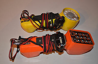 Two Telephone Lineman Test Handsets, both Dial and Push Button Complete