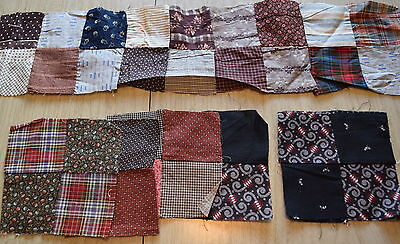 29 1870-1910's 4 Patch quilt blocks, lots of beautiful old prints