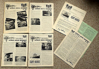 Large Lot of Vintage Automatic / Mechanical Musical Instrument Catalogs