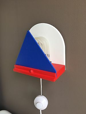 Wall Lamp Sconce Post Mid Century Modern Memphis Milano Sottsass Space Age