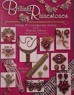 Rhinestone Jewelry  Price Guide Collector's Book Hardback Color Photos