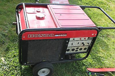 Honda Es6500 Liquid Cooled 2 Cylinder Portable Gas Generator Electric Start