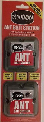 Nippon Ant Bait Station Pre-Baited Indoor & Outdoor Kill Ants & Their Nests