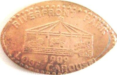 Elongated Pressed Penny - Riverfront Park - 1909 Loof Carousel - WA