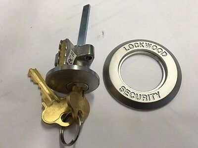 NEW Lockwood Door Lock Cylinder SC Satin Chrome Complete with Tail & 2x Keys 001