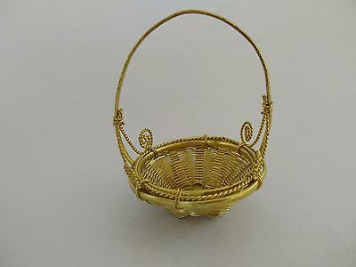 Small basket rounded shape  Made of brass metal Home decoration