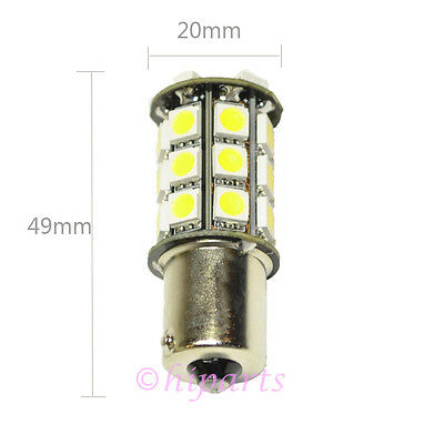 4X 1156 BA15S 5050 27 SMD LED RV Camper Trailer White Bulbs Backup Light 12V
