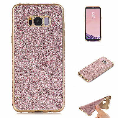 Glitter Bling Soft Rubber TPU Back Case Cover Skin For Samsung Galaxy S7