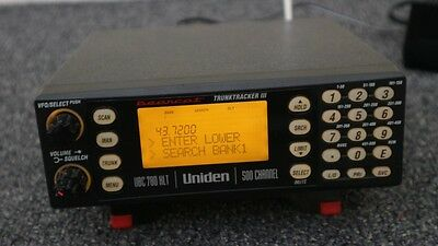 Uniden UBC780 XLT scanner Trunktracker III 500 Channels