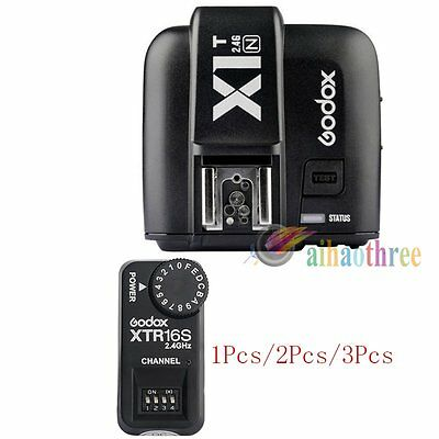 Godox X1T-N TTL HSS 1/8000s Flash Trigger Transmitter +XTR16S Receiver For Nikon