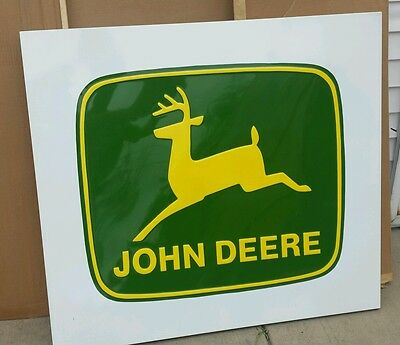 Large Vintage Metal John Deere Dealer Sign