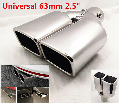 """New 63mm 2.5"""" Stainless Steel Tail Rear Pipe Tip Muffler Exhaust Silencer Cover"""