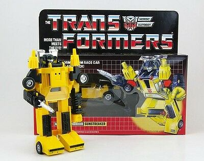 Transformers G1 Sunstreaker Reissue Action Figure Toy New in Box 11cm