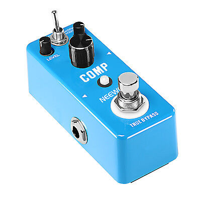 Neewer Blue Mini Compressor Pedal Ultimate Comp Guitar Effect Pedal
