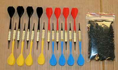 """12 darts soft tip bar type complete & extra bag of 150 1/4"""" tips for one price"""