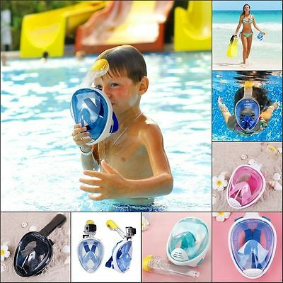 XS Full Face Snorkel Mask Kid Scuba Snorkeling Diving Mask for Children 180°View
