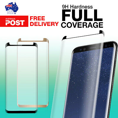 3D Full Curved Cover Tempered Glass Screen Protector for Samsung Galaxy S8 S8+