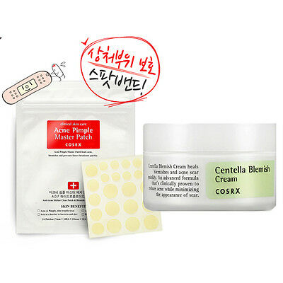 [SET] [Cosrx] Centella Blemish Cream 30ml + Acne Pimple Master Patch 24EA