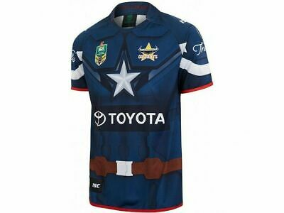NQ Cowboys 2017 NRL Captain America Marvel Jersey Adults, Ladies & Kids Sizes!