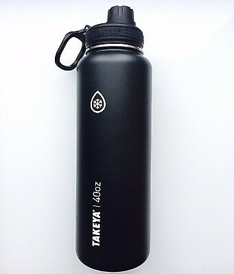 Takeya ThermoFlask Insulated Stainless Steel Water Bottle 40oz, Black