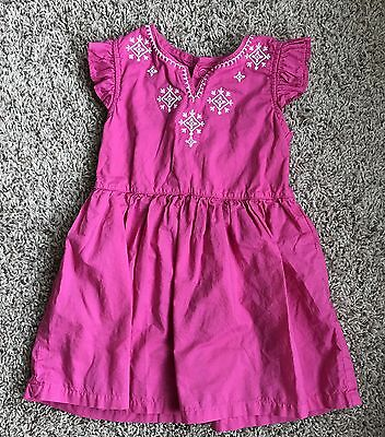 Carter's 18 Months 18m Baby Girl Dress Infant Toddler Pink White GUC