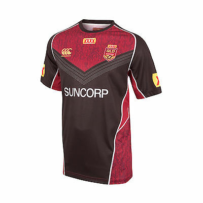 QLD Maroons State Of Origin 2017 CCC Players Black Training T Shirt Sizes S-4XL